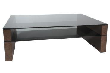 Glass Coffee Table Trendy Modrest Topaz Modern