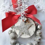 Glass Glitter Jingle Bell Wreath Tutorial Little Birdie