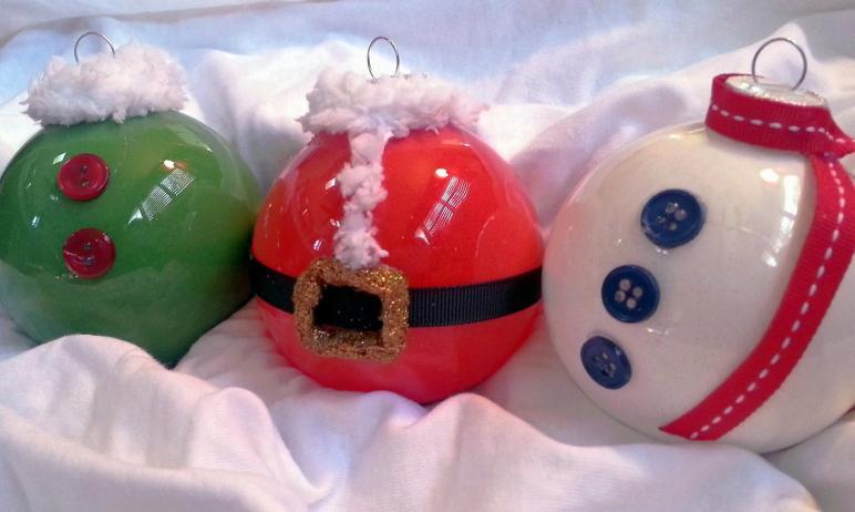 Glass Holiday Ornaments Set Creativeelementsart