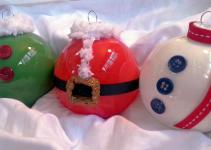 Glass Holiday Ornaments Set Creativeelementsart