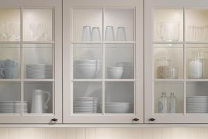 Glass Inserts Kitchen Cabinets Home Design Ideas