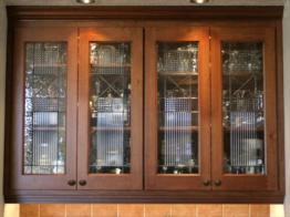 Glass Kitchen Cabinet Doors Stained Door