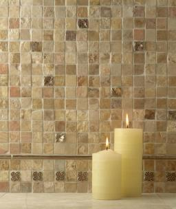 Glass Tile Shower Accent Wall White Bathroom Tiles