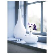 Glass Vases Salong White Vase Unique Mouth Blown