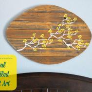 Glimpse Inside Floral Stenciled Pallet Art