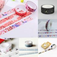 Glitter Moon Star Washi Sticky Paper Masking Adhesive Tape