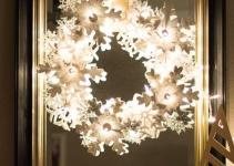 Glowing Snowflake Wreath Hometalk