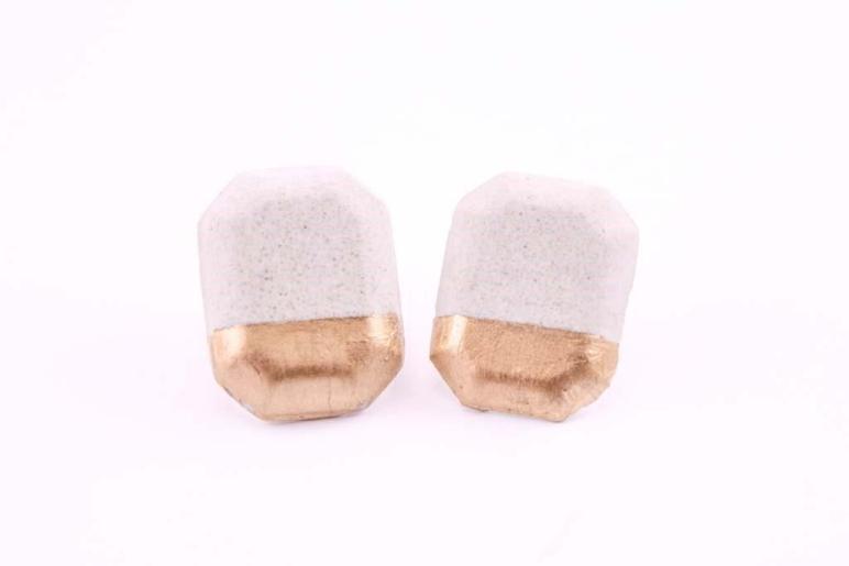 Gold Dipped Concrete Earrings Handup Global Goods