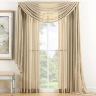 Gold Sheer Scarf Valance Window Treatments Design Ideas