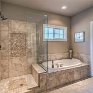Gorgeous Master Bath Extra Large Walk Shower Glass Door