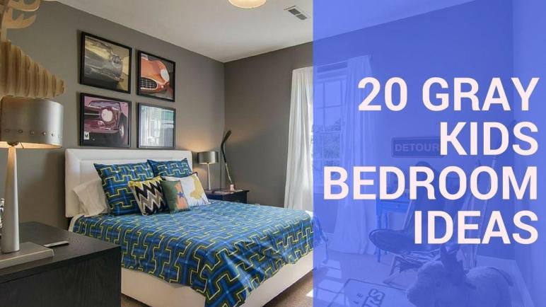 Gray Kids Bedroom Design Ideas