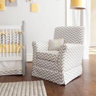 Gray Yellow Zig Zag Crib Bedding Bold Chevron