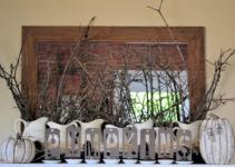 Great Halloween Mantel Decorating Ideas Round Decor