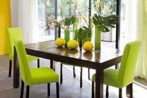 Green Dining Room Color Cheery Ambiance Actual Home