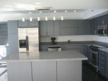 Grey Modern Kitchen Design Yellow