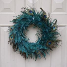 Hackle Peacock Eye Wreath Dka Cpr Feather Wreaths