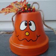 Halloween Decoration Clay Pot Pumpkin Decor Hand