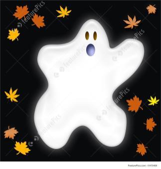 Halloween Friendly Ghost Stock Illustration