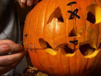 Halloween Pumpkin Carving Frankenstein Jack Lantern
