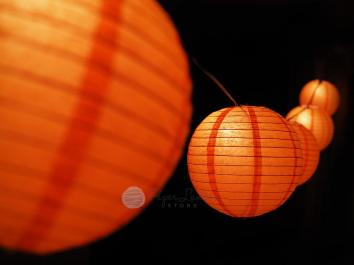 Halloween Pumpkin Paper Lantern String Light Decorating