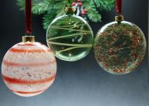 Hand Blown Glass Ball Ornament
