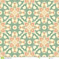 Hand Drawing Tile Vintage Color Seamless Italian Majolica
