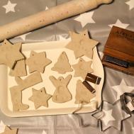 Handmade Clay Fingerprint Christmas Decorations