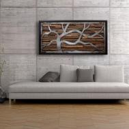 Handmade Reclaimed Wood Wall Art Made Old Barnwood