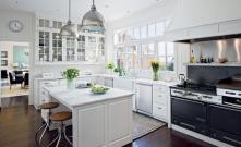 Handsome White Green Kitchen Furnishing Ideas Iroonie