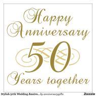 Happy 50th Wedding Anniversary Clipart