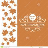 Happy Thanksgiving Maple Leaf Vintage Design