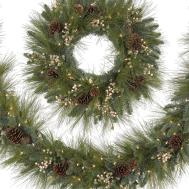 Harvest Pine Christmas Wreath Garland Treetopia
