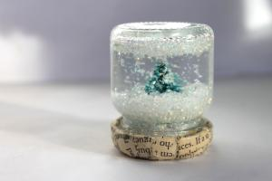Head Red Blondi Make Monday Diy Snow Globe