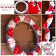 Heart Argyle Valentine Wreath Tutorial Mine