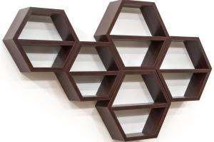 Hexagon Honeycomb Shelving Set