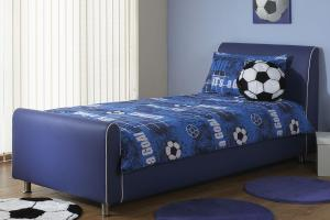 Hf4you Beds Azure Boys Blue Faux Leather Bed