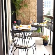 High Rise Patio Ideas Rustic Chic Wall Colors Behr