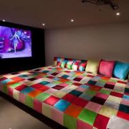 Home Cinema Idea Attic Comfy Spot Design