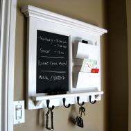 Home Decor Framed Furniture Double Mail Organizer Storage