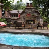 Home Garden Spas Outdoor Hot Tub Patio Ideas Grill