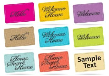 Home Mat Vectors Vector Art Stock