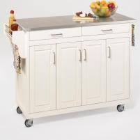 Home Styles Create Cart Kitchen Island Stainless