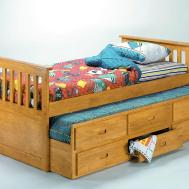 Homelegance Tahoe Natural Finish Captain Bed Pull Out