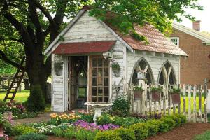 Homemade Garden Bench Cottage Sheds Shed