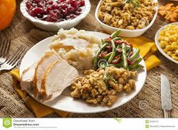 Homemade Turkey Thanksgiving Dinner Stock