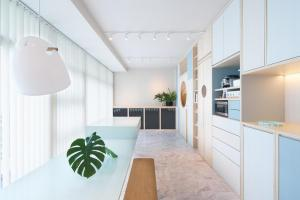 Homes Cool Pastel Hues Bright Interiors Home