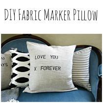 Hometalk Diy Valentine Pillows Fabric Markers