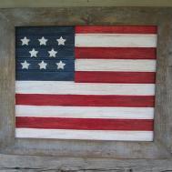Hometalk Rustic Barnwood Beadboard Patriotic July