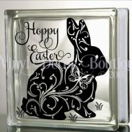 Hoppy Easter Glass Block Decal Tile Mirrors Diy