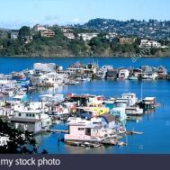 Houseboats Anchor Richardson San Francisco Bay